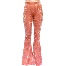 Load image into Gallery viewer, Velvet Bell Bottoms - Rusty Rose