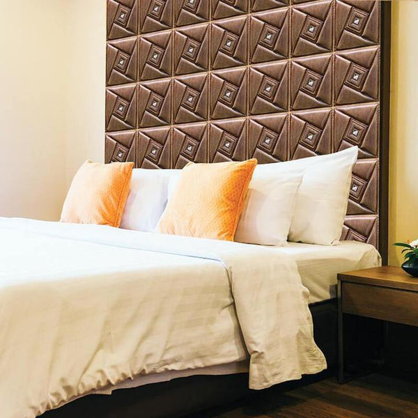 3D-PVC-brown-leather-rhinestone-peel-and-stick-wall-panel