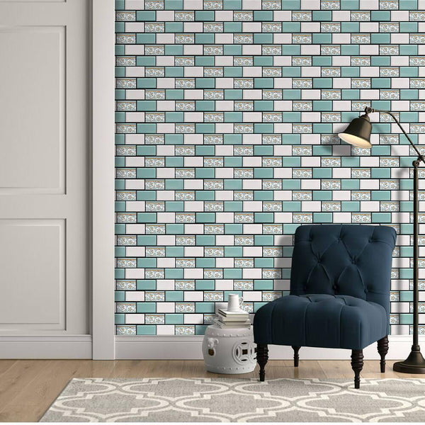 3D_Green_and_White_Subway_Peel_and_Stick_Wall_Tile-commomy decor