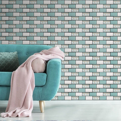 COMMOMY-3D PVC colorful peel and stick wall tiles
