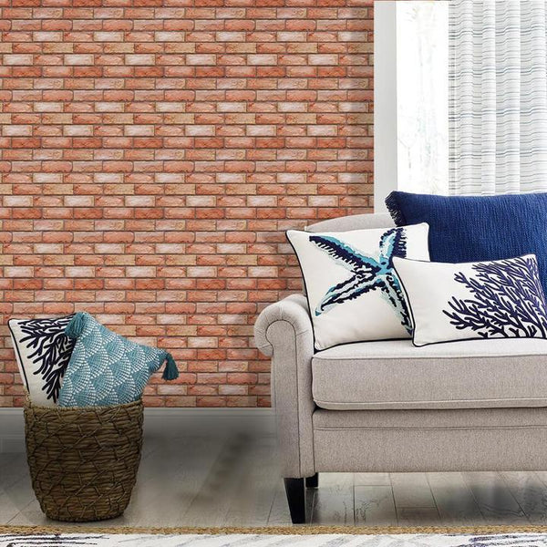 commomy decor-3D_Red_Brick_Texture_Peel_and_Stick_Wall_Tile
