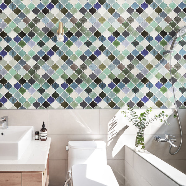 Green_and_Blue_Thicker_Rhombus_Peel_and_Stick_Backsplash_Tile_Detail_Scene4_12_x+12_+Waterproof+Self+Adhesive+Wall+Tile,+Vinyl+3d+Removable+Decorative+Tile+For+Kitchen,+Bathroom,+Living+Room,+Bedroom
