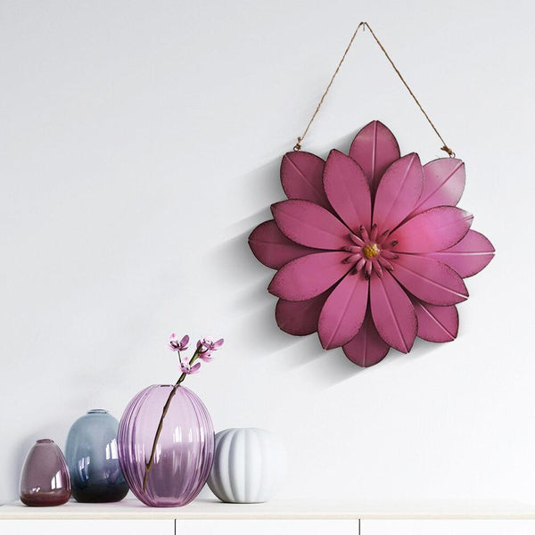 Hanging_Blooming_3D_Metal_Flower_Wall_Decor_Rosy_Scene