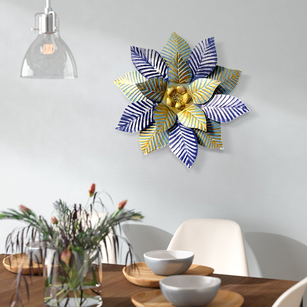Kitchen and Breakfast Nook-Commomy 3D Metal Art Flowers Wall Decor