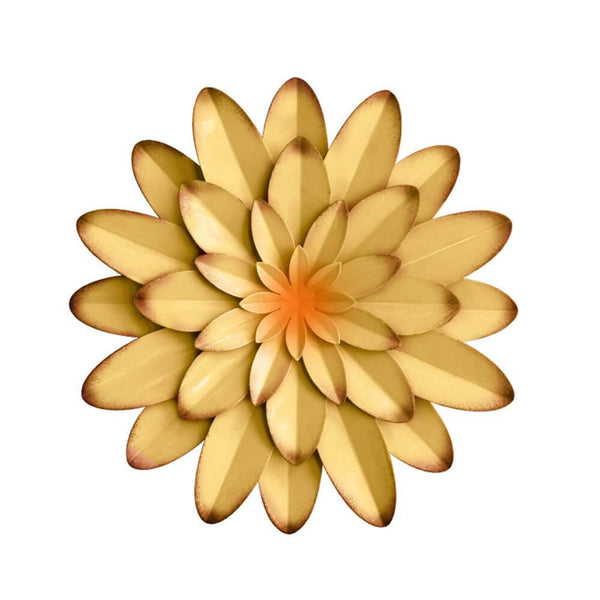 Water_Lily_3D_Metal_Flower_Wall_Decor_Yellow_Main
