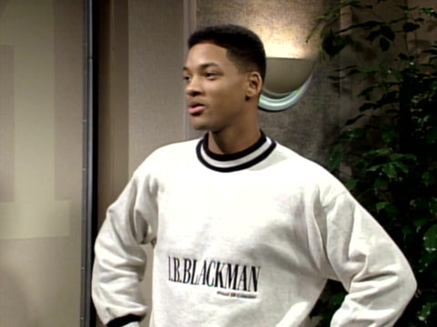 Fresh Prince of Bel Air in I.B. Blackman Sweatshirt