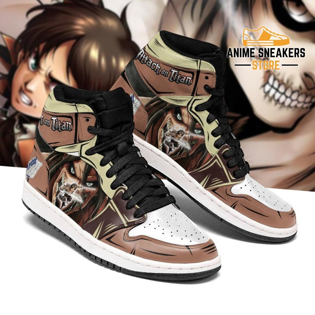 Eren Jeager And Titan Sneakers Attack On Titan Anime Sneakers
