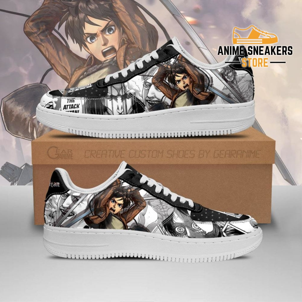 Aot Eren Sneakers Attack On Titan Anime Shoes Mixed Manga Men / Us6.5 Air Force