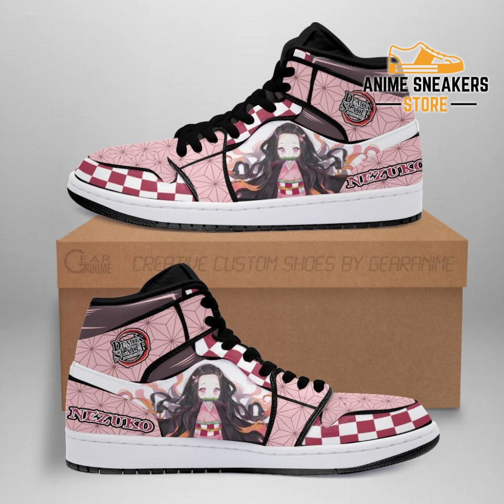 Nezuko Sneakers Costume Demon Slayer Anime Shoes Mn04 Men / Us6.5 Jd