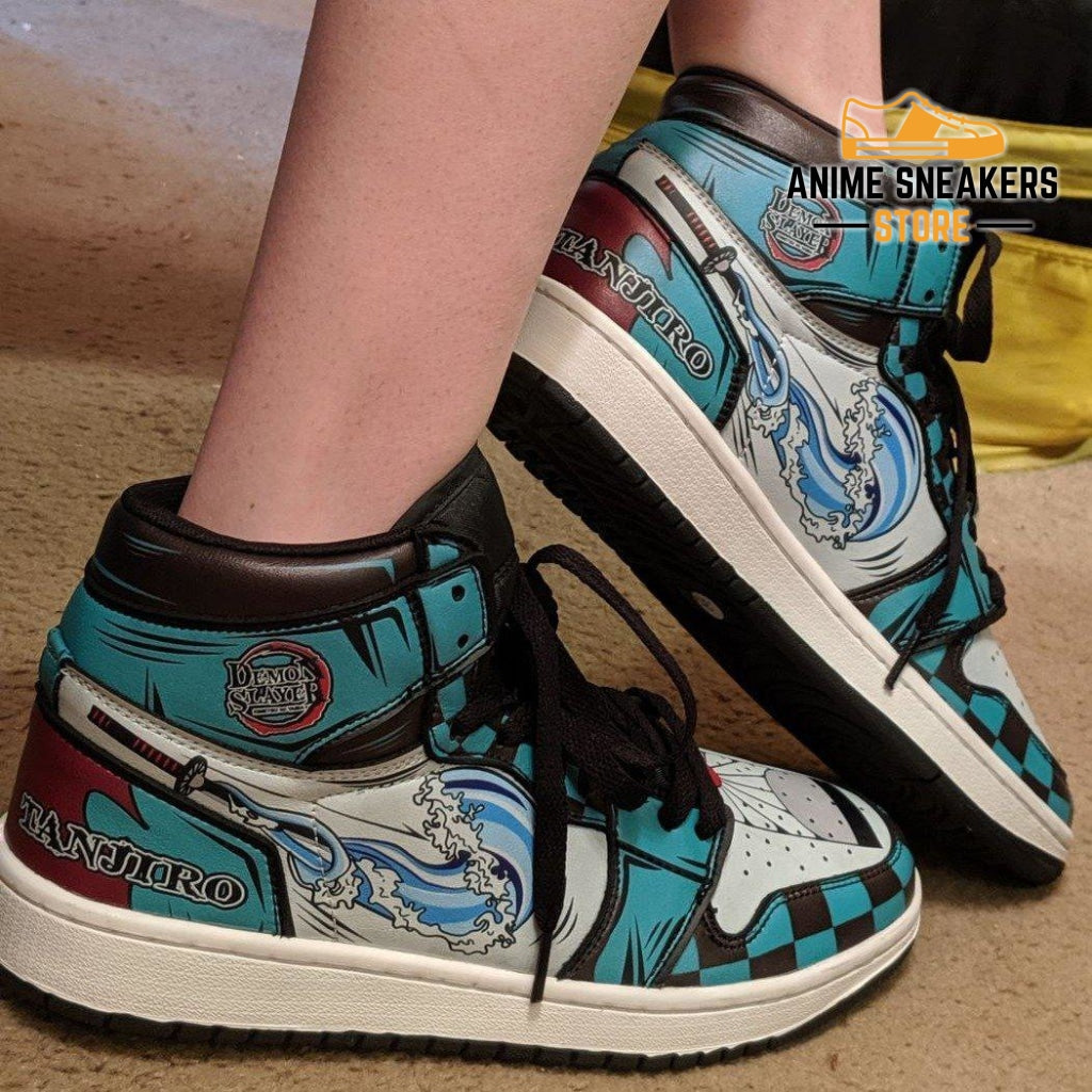 Tanjiro Sneakers Demon Slayer Anime Custom Shoes Mn04 Jd