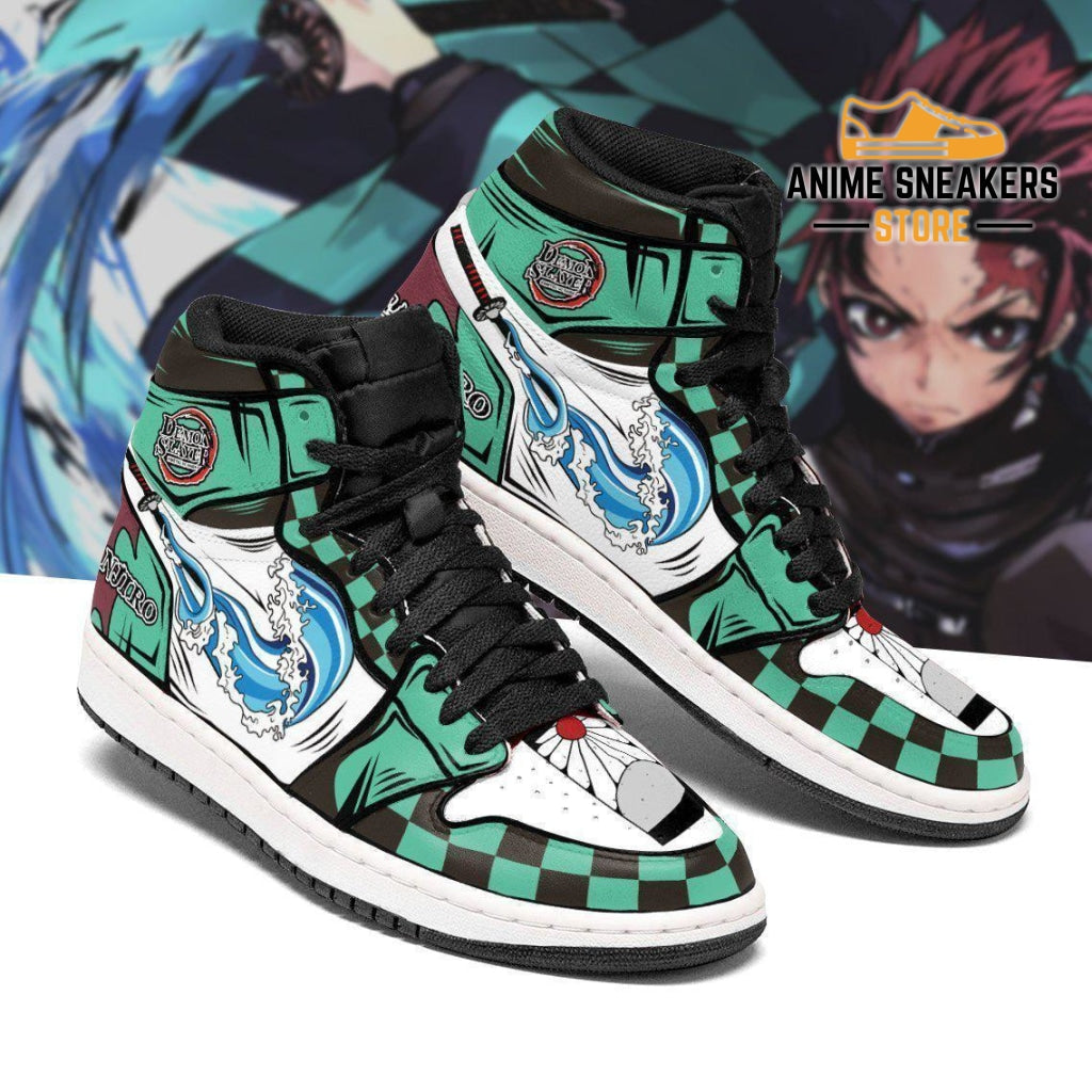 Tanjiro Sneakers Demon Slayer Anime Custom Shoes Mn04 Men / Us6.5 Jd