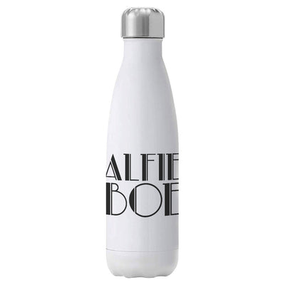 Alfie Boe Black Logo Insulated Stainless Steel White Bottle-Alfie Boe Store