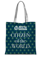 'Citizen of the World' Sublimation Tote Bag