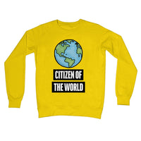'Citizen of the World' Globe Crew Neck Sweatshirt