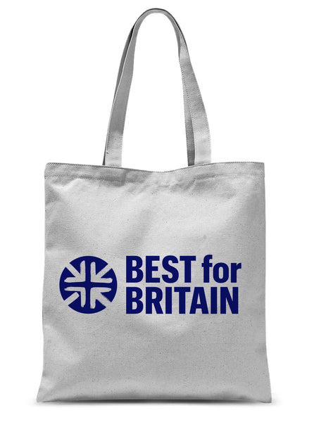 Navy Best for Britain Logo Sublimation Tote Bag