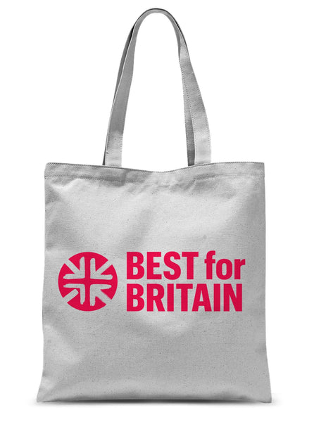 Cerise Best for Britain Logo Sublimation Tote Bag