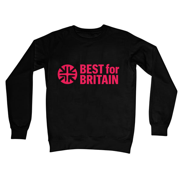 Cerise Best for Britain Logo Crew Neck Sweatshirt