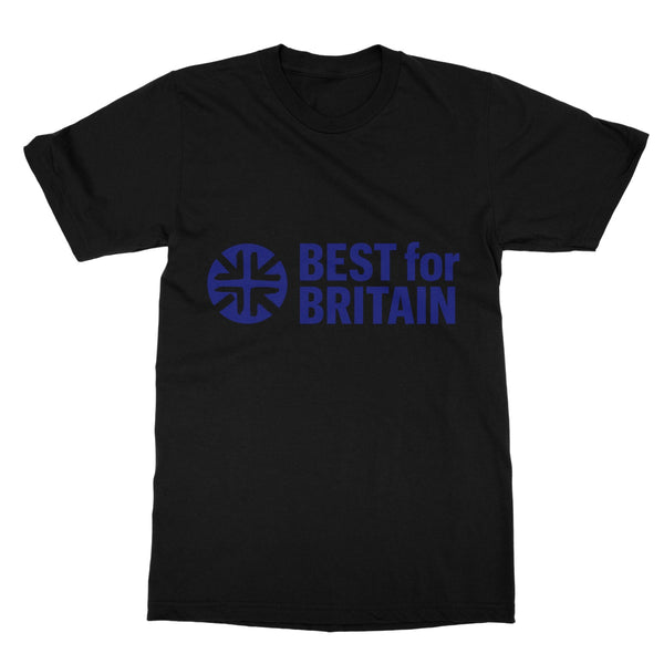Navy Best for Britain Logo Softstyle T-Shirt