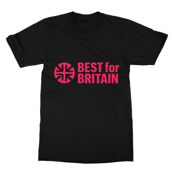 Cerise Best for Britain Logo Softstyle T-Shirt