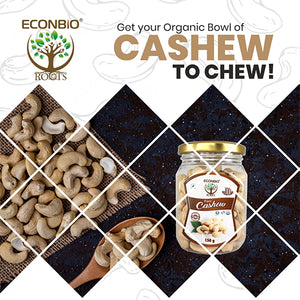 ECONBIO ROOTS Certified Organic Dry Fruits Combo 450g ( Organic Raisins, Cashews & Organic Almonds)
