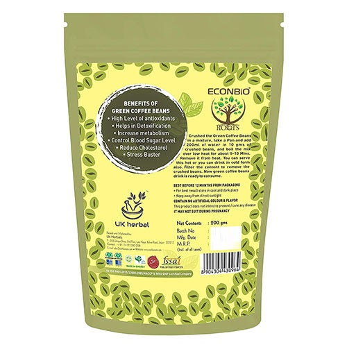 ECONBIO ROOTS Green Coffee Beans 200g