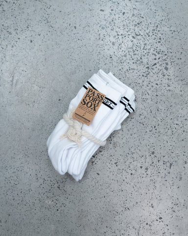 Pass Port Hi Sox 5 Pack | White