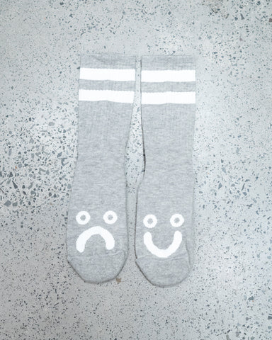 Polar Happy Sad Socks | Sport Grey