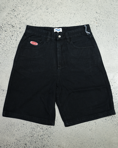 X-Large Baggie Denim Short | Black