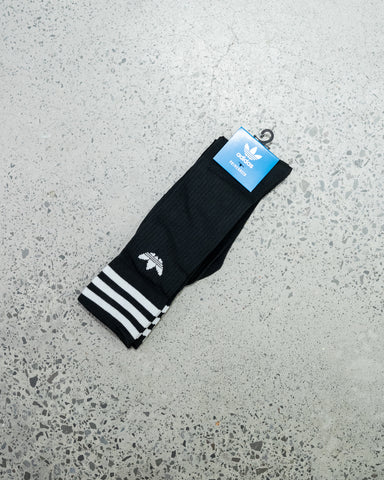 Adidas Solid Crew Sock | Black | White