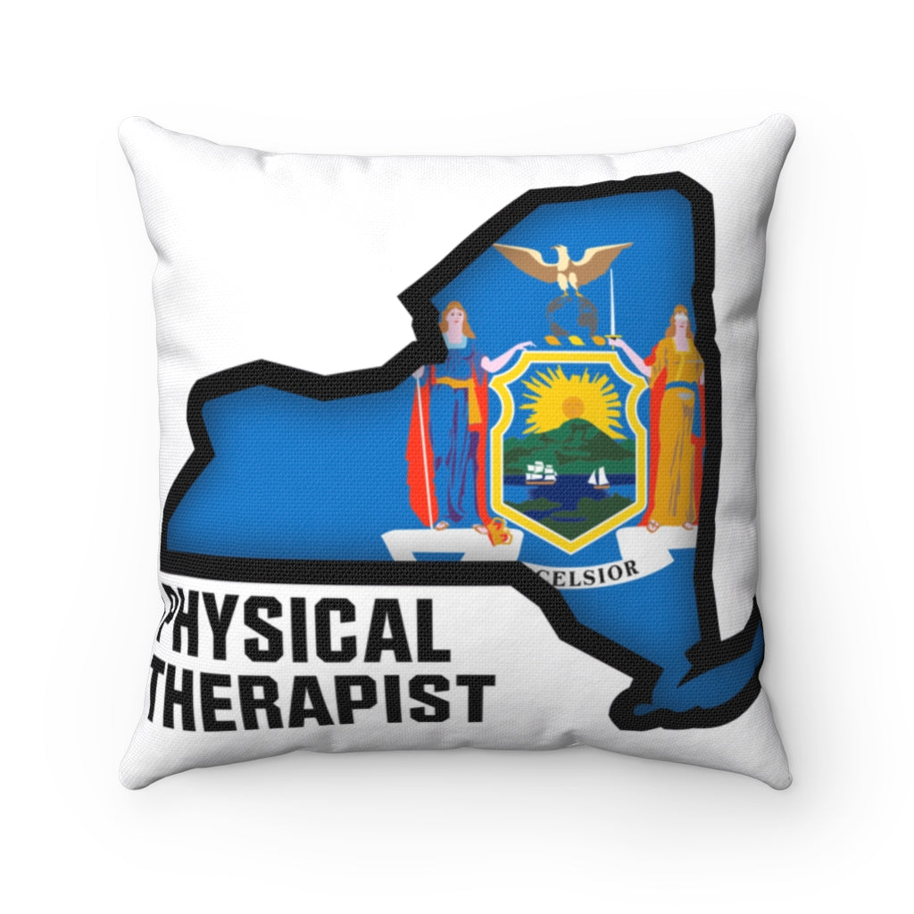 New York Physical Therapist Spun Polyester Square Pillow