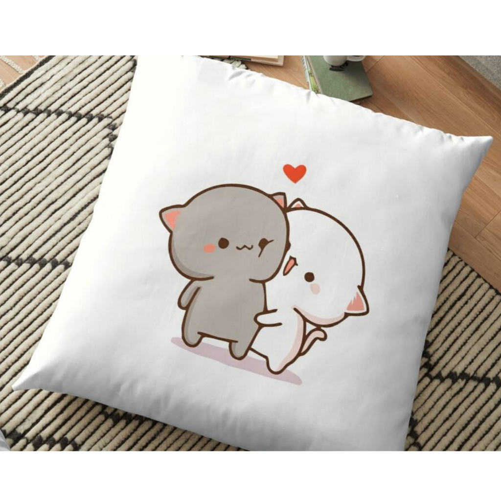 Peach Goma Love Pillow for Couples