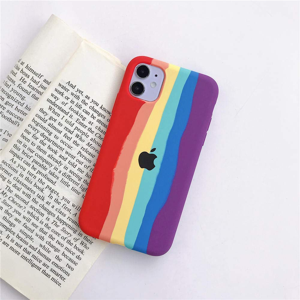 Rainbow Liquid Silicone Case for iPhone 11 Pro