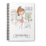 I Love Shopping with Custom Name Spiral Notebook