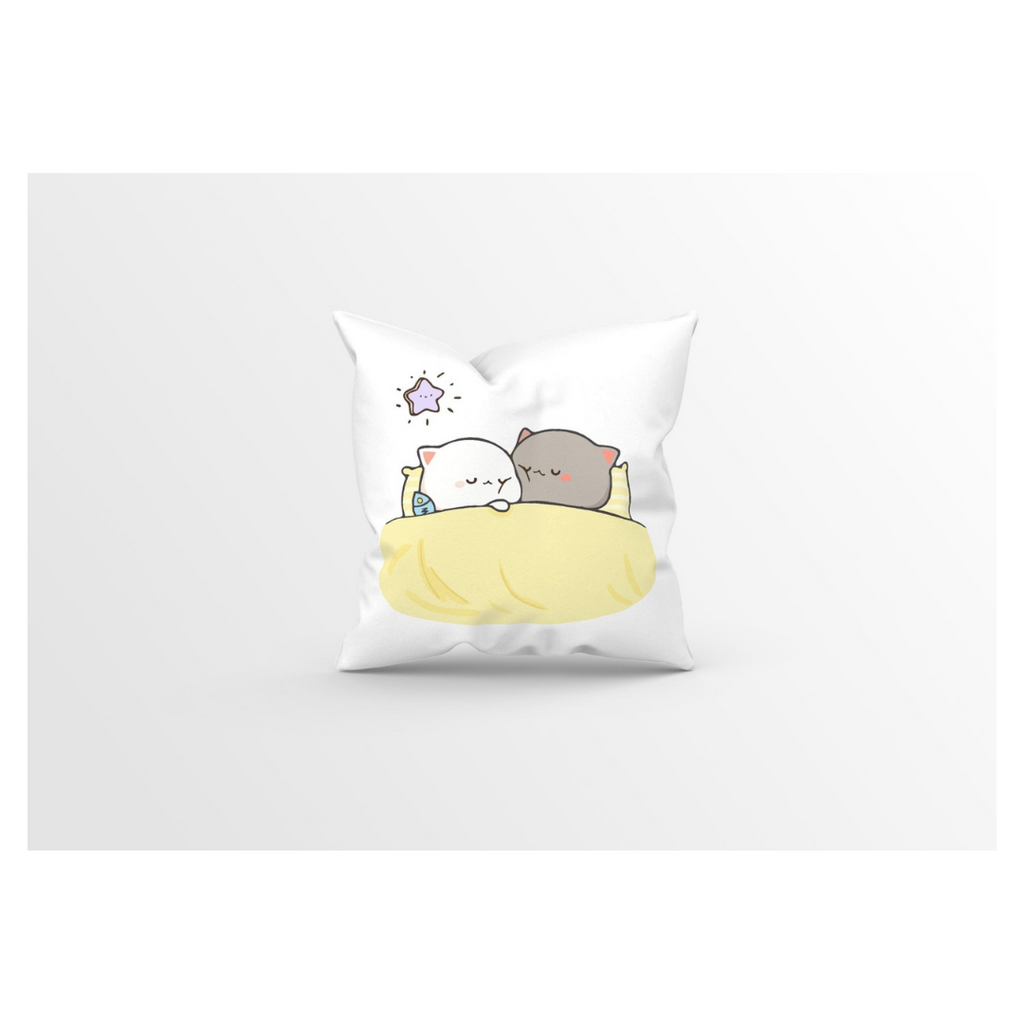 Peach and Goma Sleeping Pillow 16 x 16