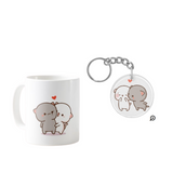 Peach and Goma Cute images Mug & Keychain Combo
