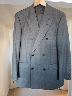 Men's Gianfranco Ferre - Double Vested Grey Wool Suit