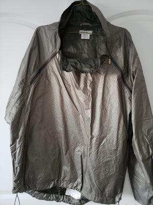 ZegnaS Grey Metallic Windbreaker