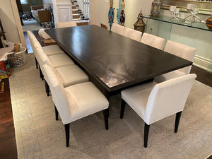 Modern Custom Black Wood Dining Table (*Chairs NOT included)