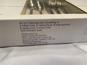WMF Hutschenreuther- 40 Piece Stainless Steel Flatware Set- BRAND NEW