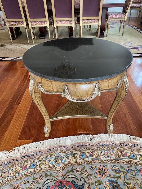 """Shaw-Pezzo"" Marble Top Accent Table"