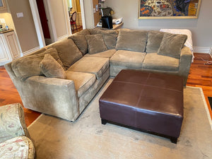 Olive Corduroy Sectional Sofa