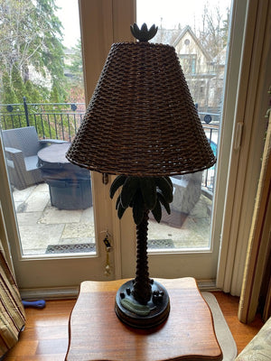 Palm Tree Table Lamp, Metal