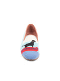 Womens Black Lab Canoe Needlepoint Loafer 6