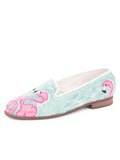 Womens Flamingos Needlepoint Loafer 2