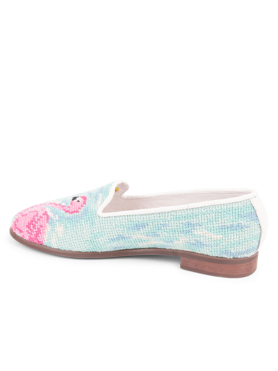 Womens Flamingos Needlepoint Loafer 4