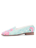 Womens Flamingos Needlepoint Loafer 6