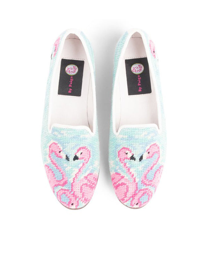 Womens Flamingos Needlepoint Loafer
