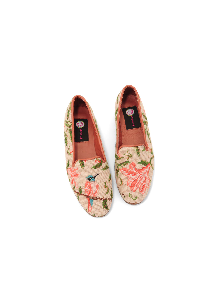 Womens Hummingbird and Flower  Needlepoint Loafer 5