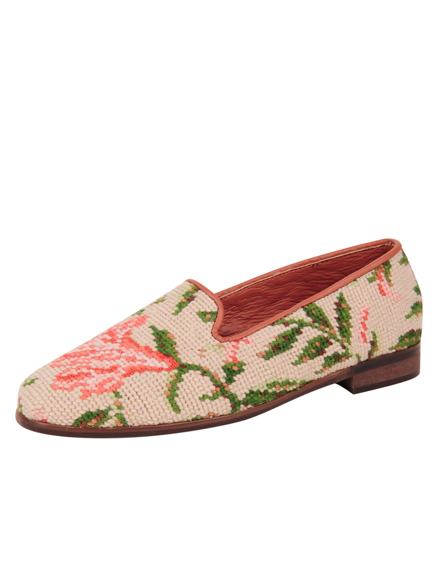 Womens Hummingbird and Flower  Needlepoint Loafer 7