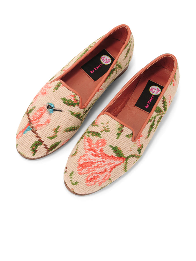 Womens Hummingbird and Flower  Needlepoint Loafer